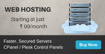 Web hosting from ₹ 175/month